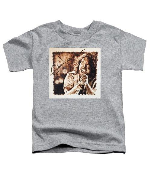 Eddie Vedder Toddler T-Shirt by Lance Gebhardt