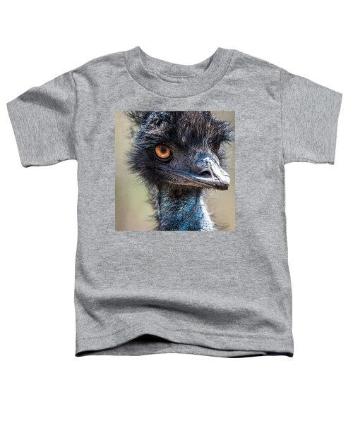 Emu Eyes Toddler T-Shirt by Paul Freidlund