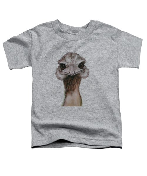 Emu Selfie Toddler T-Shirt by Kathy Carothers