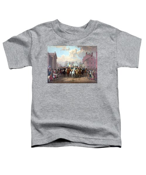 General Washington Enters New York Toddler T-Shirt by War Is Hell Store