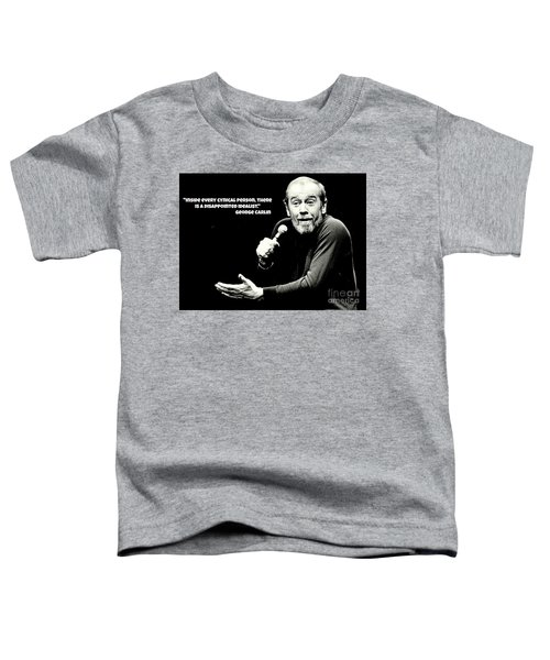 George Carlin Art  Toddler T-Shirt by Pd