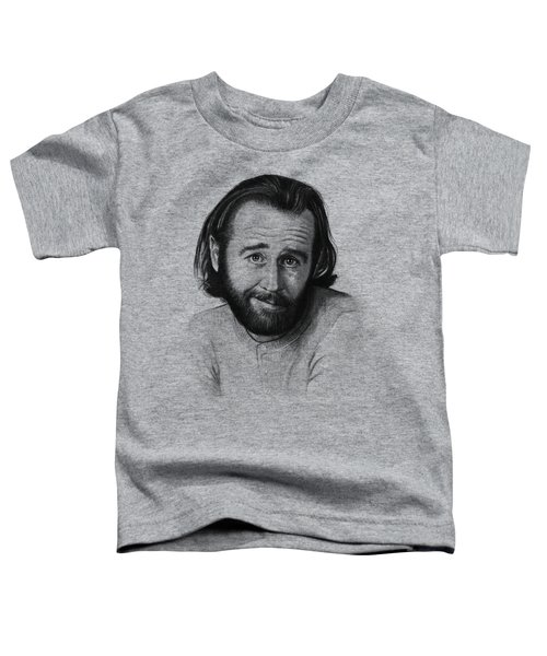 George Carlin Portrait Toddler T-Shirt by Olga Shvartsur