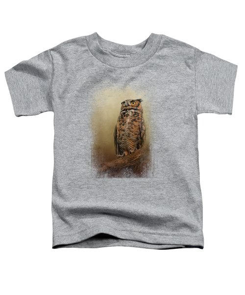 Great Horned Owl At Shiloh Toddler T-Shirt by Jai Johnson