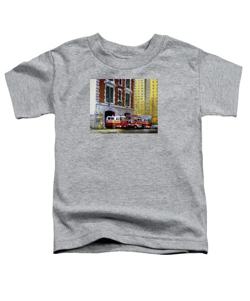 Harlem Hilton Toddler T-Shirt by Paul Walsh