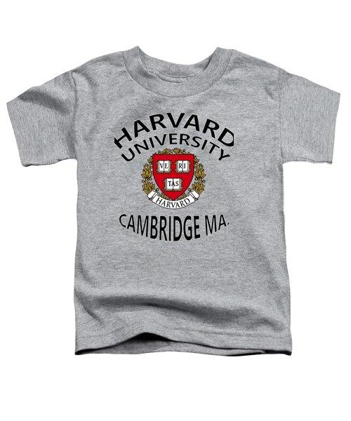 Harvard University Cambridge M A  Toddler T-Shirt by Movie Poster Prints