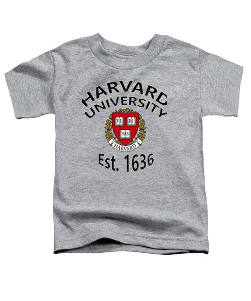 Harvard University Est 1636 Toddler T-Shirt by Movie Poster Prints