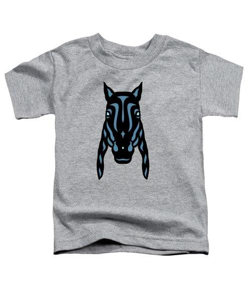Horse Face Rick - Horse Pop Art - Hazelnut, Niagara Blue, Island Paradise Blue Toddler T-Shirt by Manuel Sueess