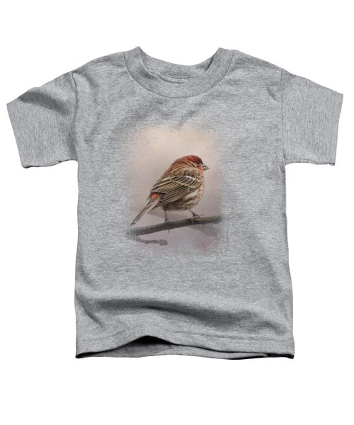 House Finch In January Toddler T-Shirt by Jai Johnson
