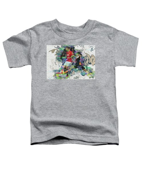 Ibrahimovic Street Art Toddler T-Shirt by Don Kuing