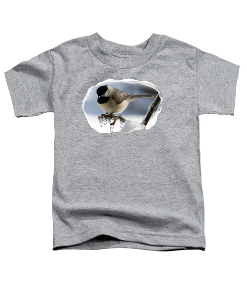 Icicle Perch Toddler T-Shirt by Karen Beasley