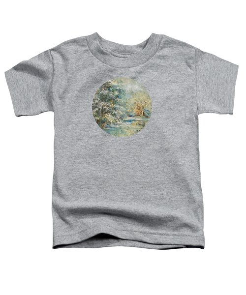 In The Snowy Silence Toddler T-Shirt by Mary Wolf