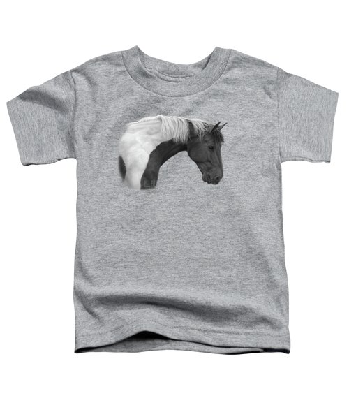 Intrigued - Black And White Toddler T-Shirt by Lucie Bilodeau