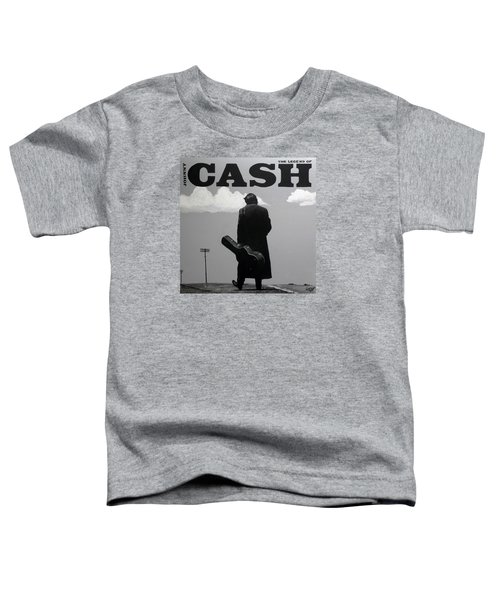 Johnny Cash Toddler T-Shirt by Tom Carlton