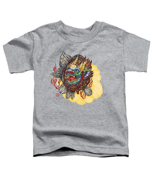 Kirin Head Ranchu Toddler T-Shirt by Shih Chang Yang