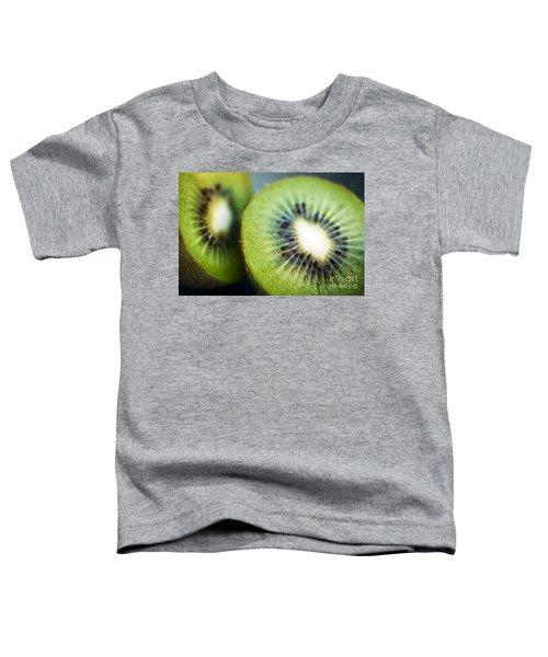 Kiwi Fruit Halves Toddler T-Shirt by Ray Laskowitz - Printscapes