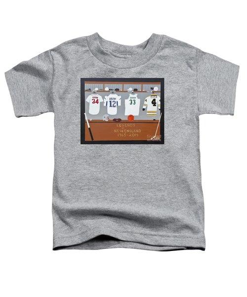 Legends Of New England Toddler T-Shirt by Dennis ONeil