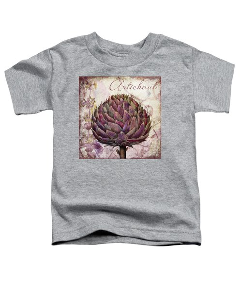 Legumes Francais Artichoke Toddler T-Shirt by Mindy Sommers