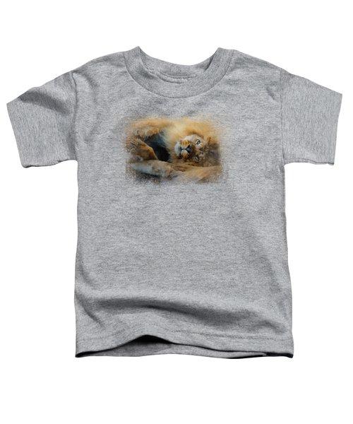 Lion Love 2 Toddler T-Shirt by Jai Johnson