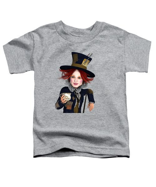 Mad Hatter Portrait Toddler T-Shirt by Methune Hively