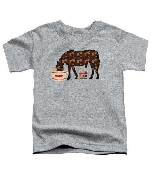 Magic Beer Toddler T-Shirt by Goko Nikolovski