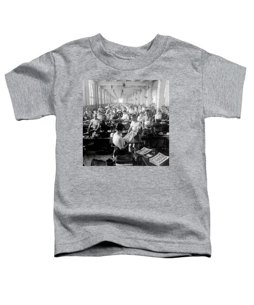 Making Money At The Bureau Of Printing And Engraving - Washington Dc - C 1916 Toddler T-Shirt by International  Images