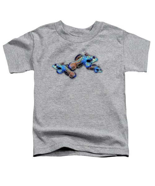 Mandarin Gobies Toddler T-Shirt by Russ Harris