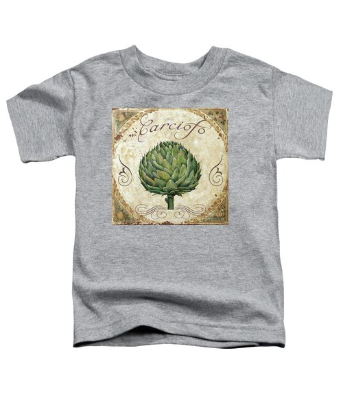 Mangia Artichoke Toddler T-Shirt by Mindy Sommers