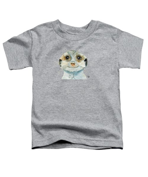 Meerkat Toddler T-Shirt by Angeles M Pomata