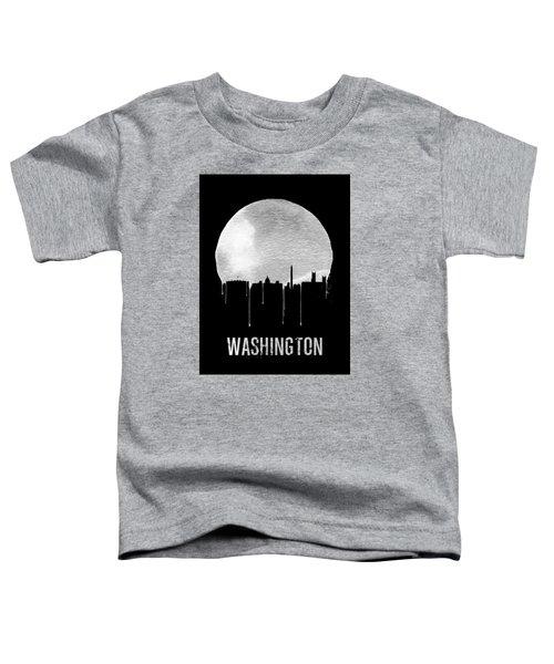Memphis Skyline Black Toddler T-Shirt by Naxart Studio