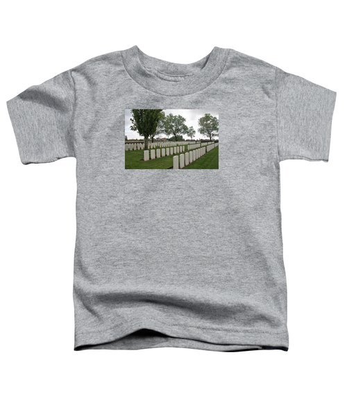 Toddler T-Shirt featuring the photograph Messines Ridge British Cemetery by Travel Pics
