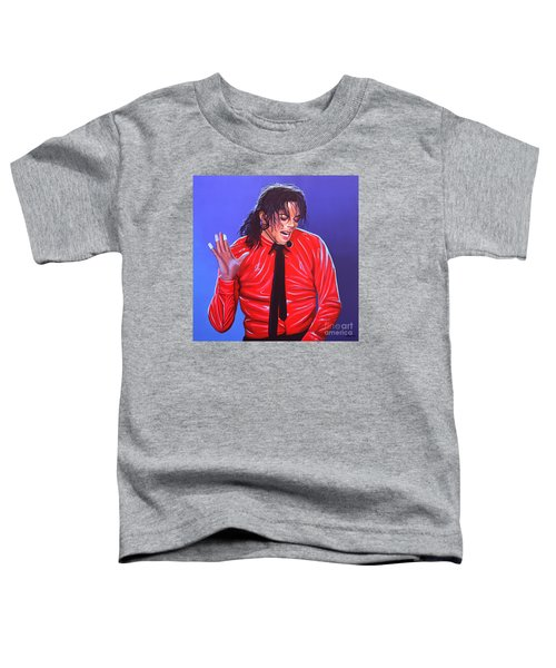 Michael Jackson 2 Toddler T-Shirt by Paul Meijering