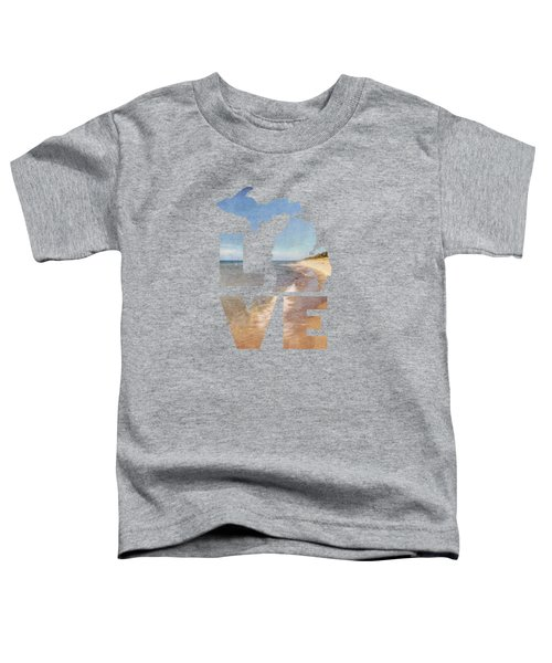 Michigan Love Toddler T-Shirt by Emily Kay