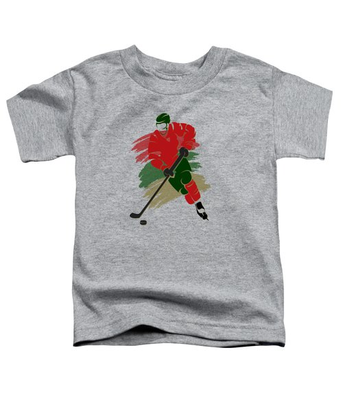 Minnesota Wild Player Shirt Toddler T-Shirt by Joe Hamilton
