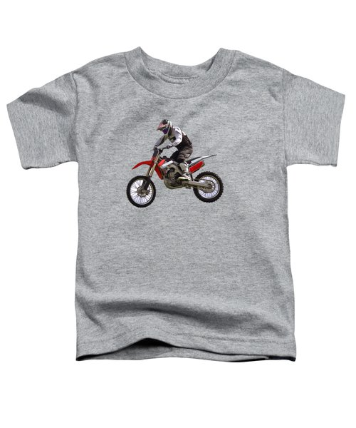 Motocross Toddler T-Shirt by Scott Carruthers