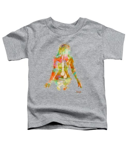 Music Was My First Love Toddler T-Shirt by Nikki Marie Smith