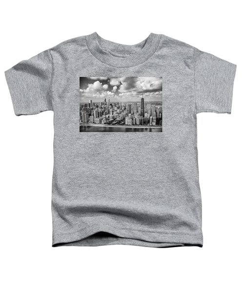 Near North Side And Gold Coast Black And White Toddler T-Shirt by Adam Romanowicz