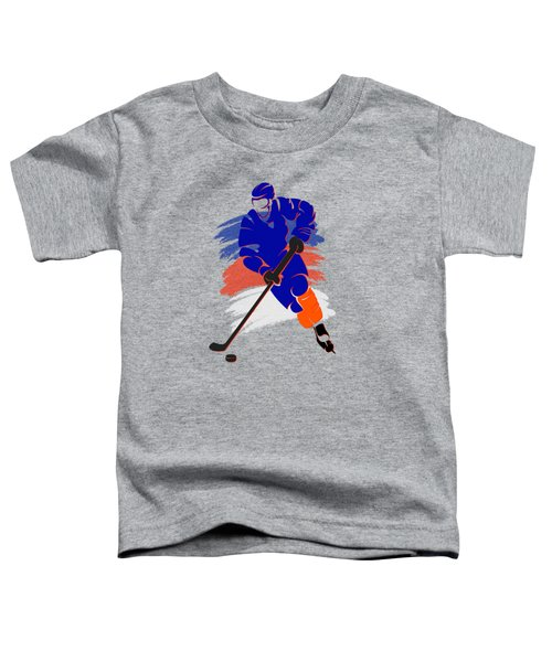New York Islanders Player Shirt Toddler T-Shirt by Joe Hamilton