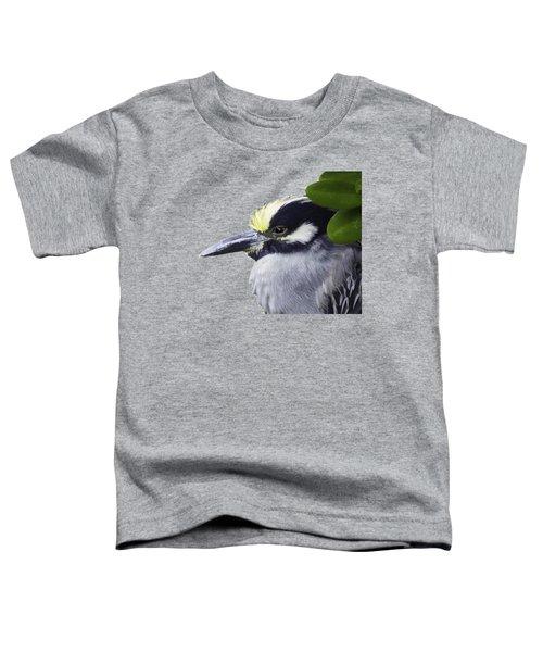 Night Heron Transparency Toddler T-Shirt by Richard Goldman