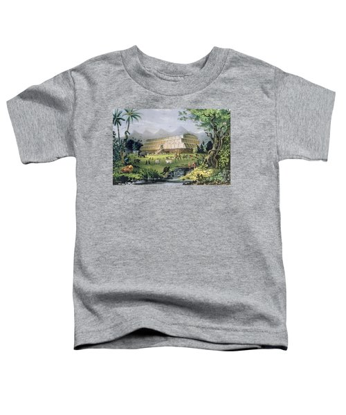 Noahs Ark Toddler T-Shirt by Currier and Ives