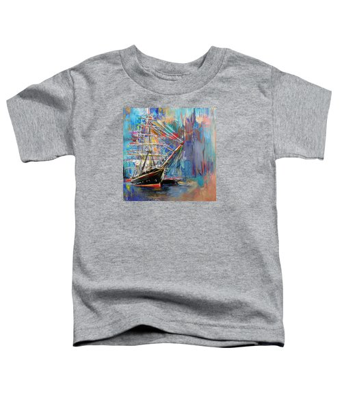 Old Ship 226 1 Toddler T-Shirt by Mawra Tahreem