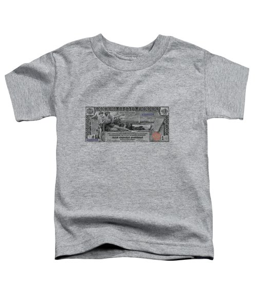 One Dollar Note - 1896 Educational Series  Toddler T-Shirt by Serge Averbukh