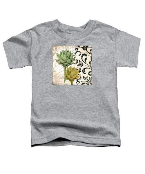 Paris Artichokes Toddler T-Shirt by Mindy Sommers
