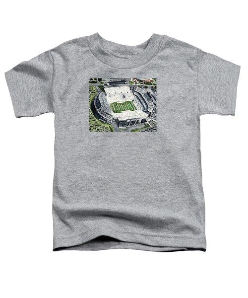 Penn State Beaver Stadium Whiteout Game University Psu Nittany Lions Joe Paterno Toddler T-Shirt by Laura Row