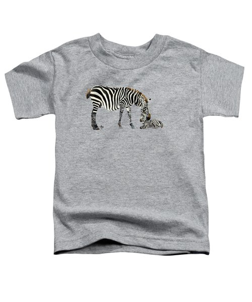Plains Zebras Toddler T-Shirt by Angeles M Pomata