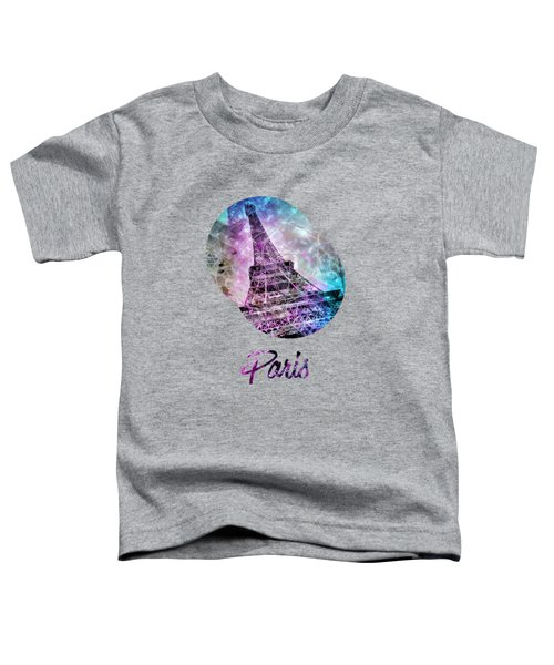 Pop Art Eiffel Tower Graphic Style Toddler T-Shirt by Melanie Viola