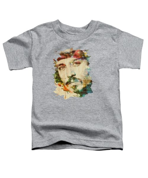 Portrait Of Johnny Toddler T-Shirt by Maria Arango