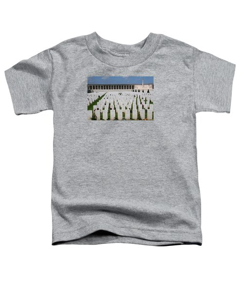 Toddler T-Shirt featuring the photograph Pozieres British Cemetery by Travel Pics