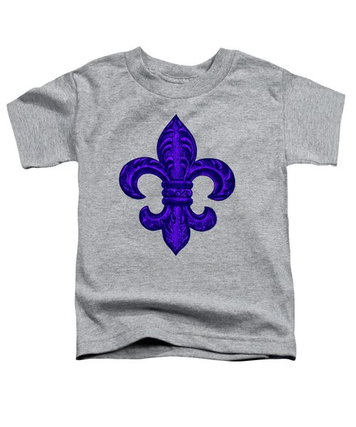 Purple French Fleur De Lys, Floral Swirls Toddler T-Shirt by Tina Lavoie