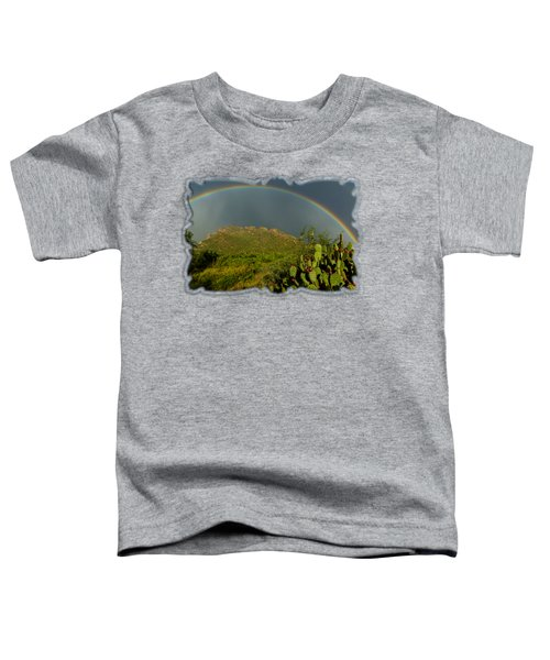 Pusch Ridge Rainbow H38 Toddler T-Shirt by Mark Myhaver