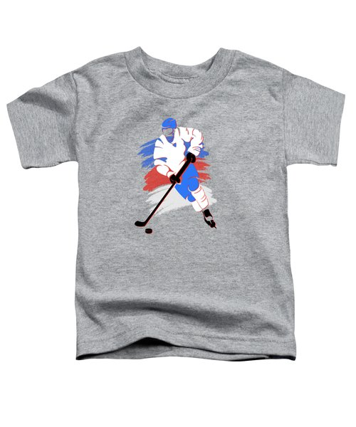 Quebec Nordiques Player Shirt Toddler T-Shirt by Joe Hamilton